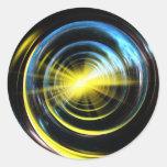 Espacio del wormhole pegatina redonda
