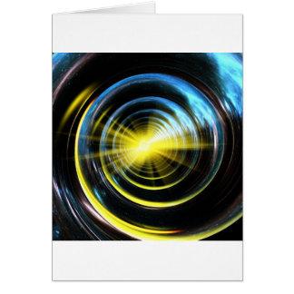 Espacio del wormhole tarjeta de felicitación