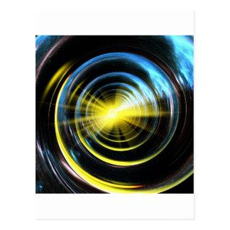 Espacio del wormhole tarjetas postales