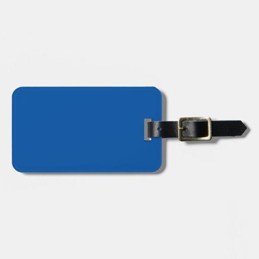 Espacio en blanco adaptable azul de bronce de la p etiqueta para equipaje