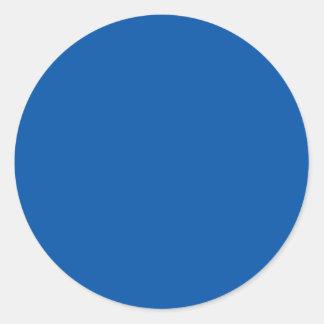 Espacio en blanco adaptable azul de bronce de la pegatina redonda