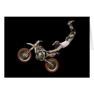 espacio en blanco aéreo #4 del motocrós tarjeta de felicitación