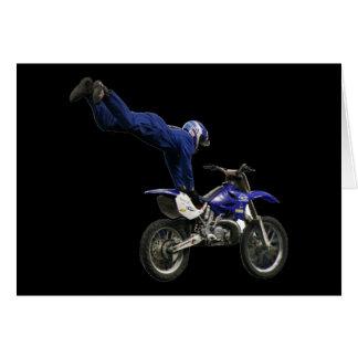 espacio en blanco aéreo #6 del motocrós tarjeta de felicitación