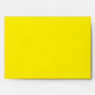 Espacio en blanco amarillo limón del sobre A7