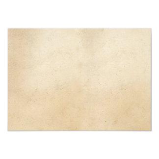 Espacio en blanco antiguo de papel de la plantilla invitación 12,7 x 17,8 cm