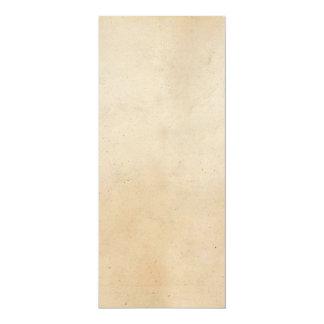 Espacio en blanco antiguo de papel de la plantilla invitación 10,1 x 23,5 cm