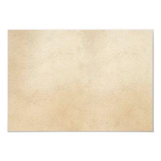 """Espacio en blanco antiguo de papel de la plantilla invitación 3.5"""" x 5"""""""