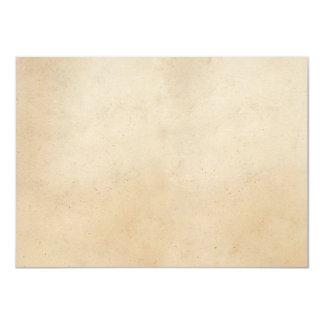 """Espacio en blanco antiguo de papel de la plantilla invitación 4.5"""" x 6.25"""""""