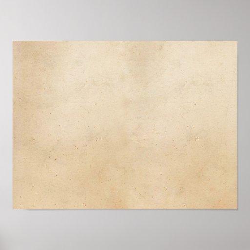 Espacio en blanco antiguo de papel de la plantilla impresiones