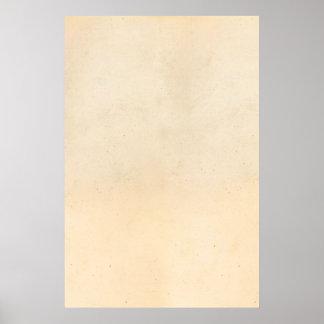 Espacio en blanco antiguo de papel de la plantilla póster