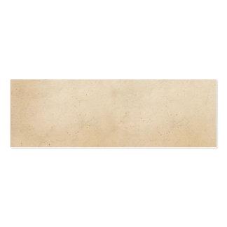 Espacio en blanco antiguo de papel de la plantilla tarjetas de visita mini