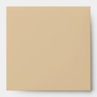 Espacio en blanco beige cuadrado del sobre