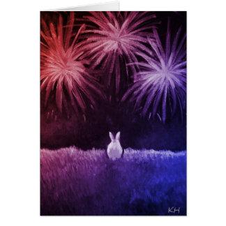 Espacio en blanco - bollo el 4 de julio tarjetas