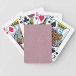 Espacio en blanco color de rosa polvoriento de la  baraja cartas de poker