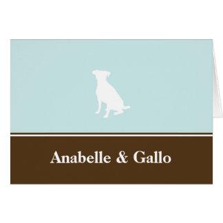 Espacio en blanco de encargo canino de la tarjeta