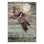 Espacio en blanco de hadas romántico gótico oscuro tarjetón
