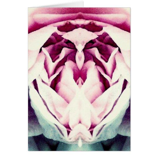 Espacio en blanco de la foto del arte abstracto de tarjeta de felicitación