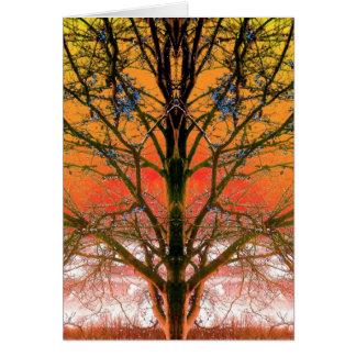 Espacio en blanco de la foto del arte del árbol de tarjeta de felicitación