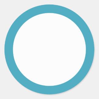 Espacio en blanco de la frontera del color sólido pegatina redonda