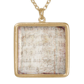 Espacio en blanco de la plantilla del documento de collar dorado