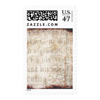 Espacio en blanco de la plantilla del documento de estampillas