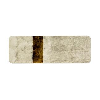 Espacio en blanco de la plantilla del pergamino de etiqueta de remitente