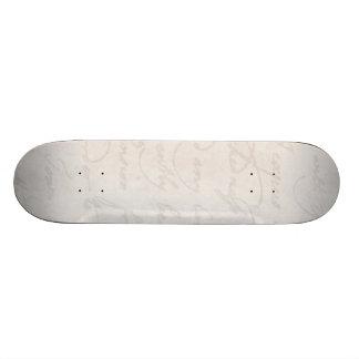 Espacio en blanco de la plantilla del texto de la  tablas de skate
