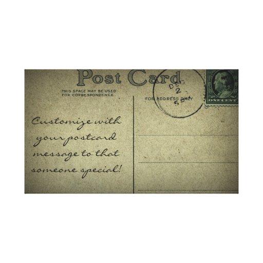 Espacio en blanco de la postal del vintage - lona  impresiones en lienzo estiradas