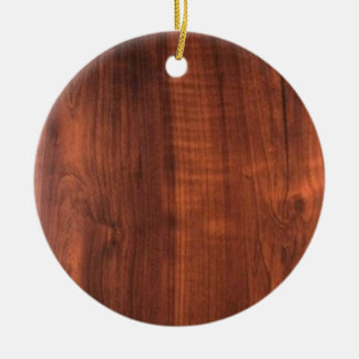 ESPACIO EN BLANCO de madera Blanc Blanche de la Adorno Navideño Redondo De Cerámica