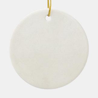 Espacio en blanco de papel antiguo de la plantilla adorno navideño redondo de cerámica