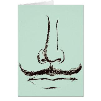 Espacio en blanco del bigote del vintage tarjeta pequeña