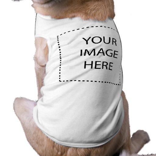 Espacio en blanco del ♥ - cree su propio regalo camisetas de perro