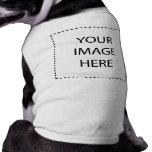 Espacio en blanco del ♥ - cree su propio regalo camiseta de perrito