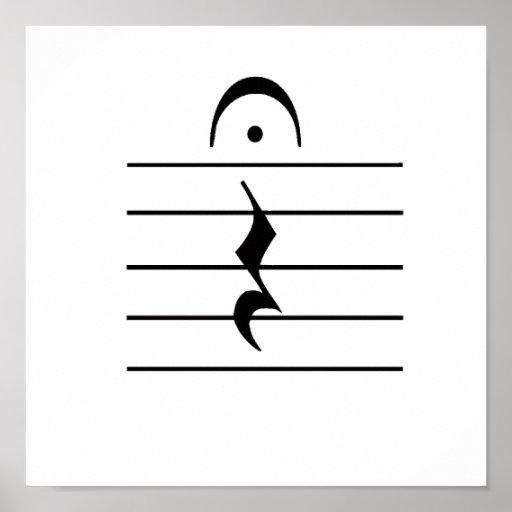Espacio en blanco del resto de la notación de músi poster
