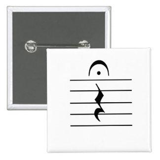 Espacio en blanco del resto de la notación de músi pin