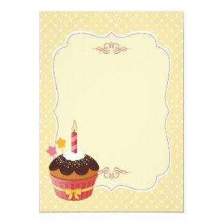 Espacio en blanco delicioso dulce del amarillo de invitación 12,7 x 17,8 cm