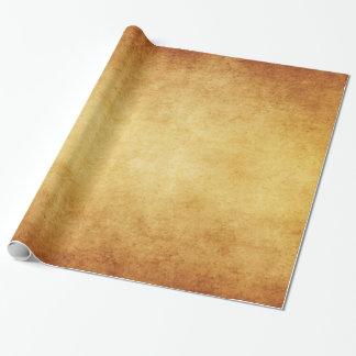 Espacio en blanco envejecido vintage de la papel de regalo