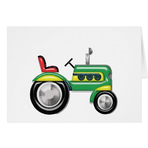 Espacio en blanco fabuloso del tractor tarjeta de felicitación