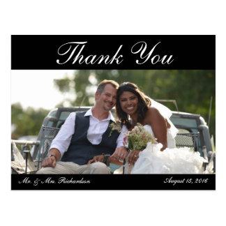 Espacio en blanco - la foto del boda Horiz. B&W Tarjeta Postal