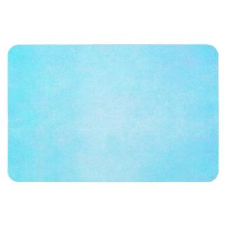 Espacio en blanco ligero azul de la plantilla de l imán rectangular