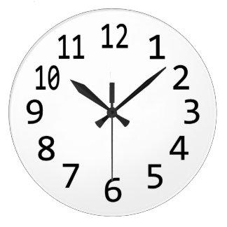 Espacio en blanco llano numerado reloj para