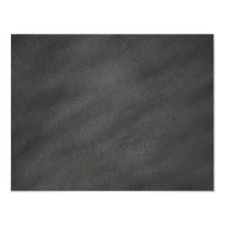 """Espacio en blanco negro gris del tablero de tiza invitación 4.25"""" x 5.5"""""""