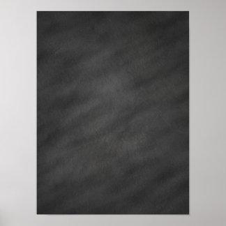 Espacio en blanco negro gris del tablero de tiza impresiones