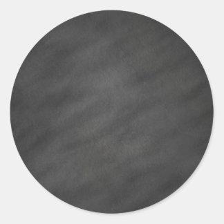 Espacio en blanco negro gris del tablero de tiza pegatina redonda
