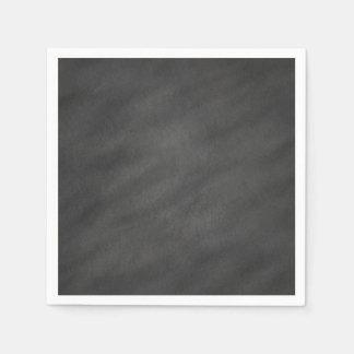 Espacio en blanco negro gris del tablero de tiza servilleta de papel