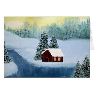 Espacio en blanco Notecard de la paz del invierno Tarjeta Pequeña