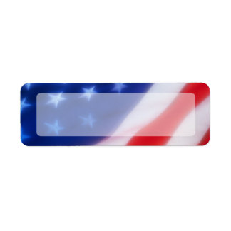 Espacio en blanco patriótico de la bandera america etiqueta de remite