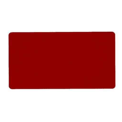 Espacio en blanco profundo del fondo del color roj etiqueta de envío