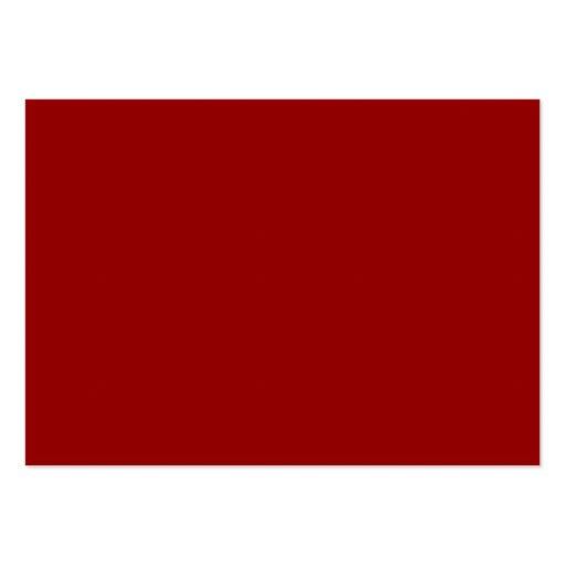 Espacio en blanco profundo del fondo del color roj tarjetas de visita grandes