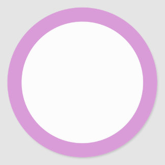 Espacio en blanco púrpura de la frontera de la pegatina redonda